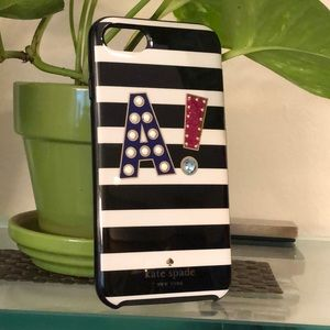 ⚫️🤍🟣 Kate spade iPhone 8 regular 2 piece case